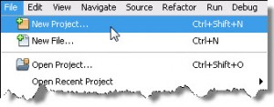 File > New Project