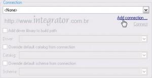 Detalhe em Add Connection na criação do projeto