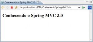 Resultado da saída gerada pelo Spring MVC 3.0
