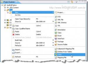 Criando uma entidade JPA no Eclipse IDE