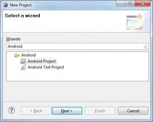 Figura 8 – Primeiro passo para criar um Projeto Android no Eclipse