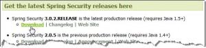 Figura 1 – Local de download do Spring Security 3.0.2