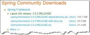 Figura 3 – Download do Spring Framework