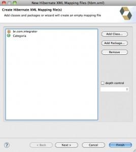 Figure 10 – Criação do arquivo XML de mapeamento do Hibernate