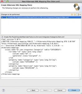 Figure 12 – Arquivo XML do mapeamento que será criado