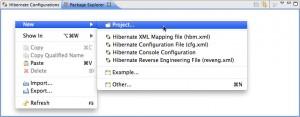 Figure 3 – Criando um novo projeto pela view Package Explorer através do menu de contexto