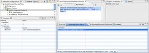 Figura 32 – Criação do Hibernate Criteria no editor e seu resultado apos clicar em Run criteria