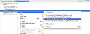 Figura 39 – Seleção do item Hibernate Console Configuration no menu de contexto