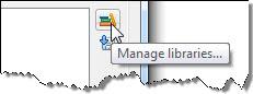 Figura 5 – Seleção de Manage libraries