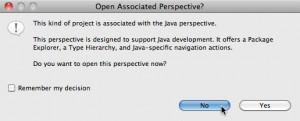 Figure 6 – Pergunta automática de alteração de perspectiva feita dependendo do tipo de projeto criado