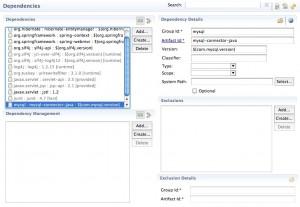Figura 14 – A dependência da biblioteca JDBC do MySQL