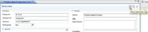 Figura 7 – Exibindo tabs avançadas do editor visual para o arquivo pom.xml