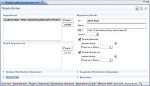 Figura 8 – O repositório JBoss configurado