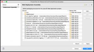 Figura 6 – Adicionando os arquivos JARs do projeto no aplicativo Web
